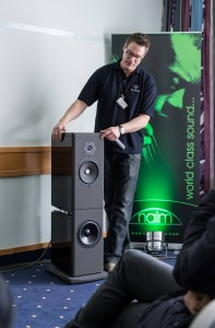 Wowing the crowds in the Kudos / Naim room at 'Hortest 2013'