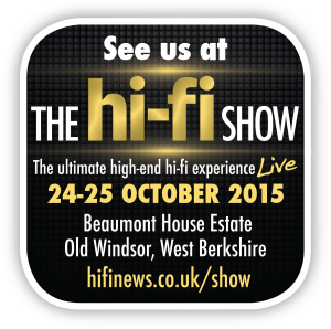 Kudos Audio at The Hi-Fi Show Live: 24-25 October 2015